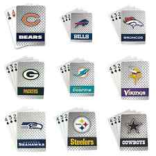 NFL Deck of Playing Cards Diamond Plated - Standard Size  Pick Your Team