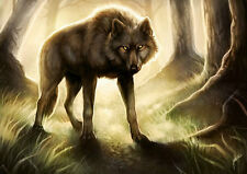 Modern Home Decor HD Prints art oil painting on canvas wall art Fantasy wolf w18