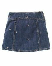 NWT Gymboree WINTER PRINCESS Denim Embroidered Flowers Skirt