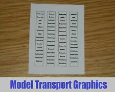 Northern Trains Destination Blinds for Hornby & Bachmann Class 142 150 156 158