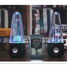 Tumbler LED Dancing Water Fountain Light Speakers Stereo Music For Ipad Iphone