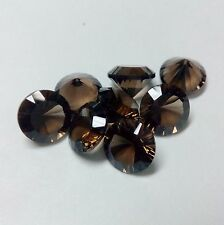 8mm to 20mm Natural Smoky Quartz Concave Cut Round Calibrated Loose Gemstone