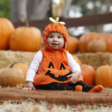 Cute Toddler Baby Boy Girl Pumpkin Halloween Fancy Dress Party Costume Outfit AU