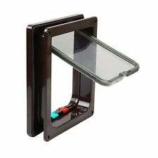 4 Way Locking Cat Flap Pet Door Kit for Cat and Small Dogs with Telescopic Frame