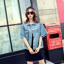Boyfriend Woman Jeans Coat Retro Oversize Cowboy Denim Loose Casual Jacket size#
