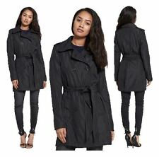 WOMENS LADIES BRAVE SOUL SHINY DOUBLE BREASTED BELT MILITARY JACKET TRENCH COAT