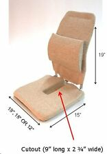 McCarty's Sacro-Ease Car Seat Support and Back Rest w/ Coccyx Cutout 3 Sizes