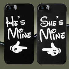 New CUTE Couple Phone Case, He's Mine & She's Mine Cover For iPhone & Samsung