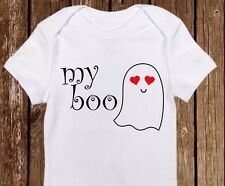 "Halloween ""My BOO"" Costume/Outfit Onesie Funny unisex baby clothes - Adorable"