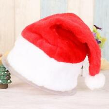 Christmas Party Santa Red Hat White Cap For Santa Claus Father christmas Costume