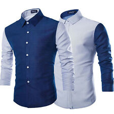 New Slim Fit Stylish Dress Mens Luxury Long Sleeve Shirt Casual Shirts Blouses