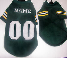 Greenbay Packers Polar Fleece Dog Coat