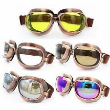 Vintage Aviator Pilot Style Motorcycle Helmet Cruiser Scooter Goggles New