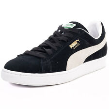 Puma Suede Classic Unisex Trainers Black White New Shoes