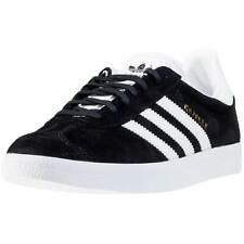 adidas Gazelle Womens Trainers Black White New Shoes All Sizes