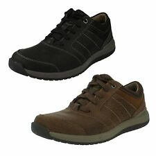 MENS CLARKS LEATHER LACE UP CASUAL SHOES - RYLEY STREET
