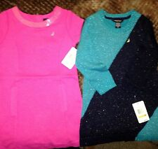 NAUTICA GIRLS Sparkle Sweater or Sequin DRESS 3T Blue Holiday Party NWT