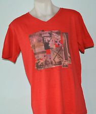 Quiksilver Mens Printed T Shirt - RED - SIZE - M & XXL  - NEW