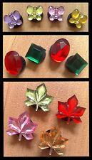 4x BUTTERFLY,MAPLE LEAF,GEM SHOE CHARMS FOR CROCS ETC.