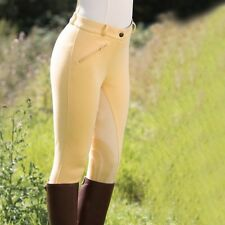 Equetech - Show-Off Breeches - Ladies Canary Show Breeches - Stretch Suede Seat