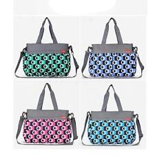 Multifunctional Mummy Bag Messenger Baby Changing Diaper Nappy Bag Womens Tote