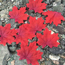 100pc in Set Fall Silk Leaves Wedding Party Favor Autumn Maple Leaf Decorations