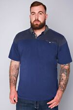 D555 Navy Polo Shirt With Dotted Collar