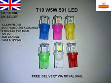 T10 W5W 501 194 Led Smd Interior Side Light Lamps Car Bulbs Hid Wedge Capless