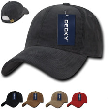 DECKY New 6 Panel Corduroy Low Crown Pre Curved Bill Dad Caps Caps Hats Hat