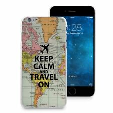Keep Calm and Travel On Map Plastic Hard Case for iPhone 7/7 Plus/8/8 Plus/6/6S