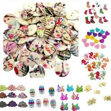 Mixed Wooden Round Heart Animal Buttons Embellishment Sewing Craft Scrapbooking