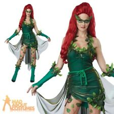 Ladies Lethal Poison Ivy Beauty Costume Halloween Sexy Fancy Dress Outfit
