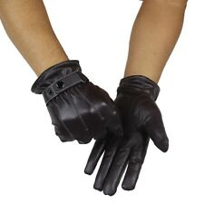 HOT Mens Luxury Leather Gloves Winter Super Driving Warm Gloves Cashmere Mittens