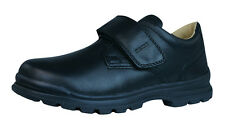 Geox J William Q Boys Smooth Leather Shoes - Black - C9999 See Sizes
