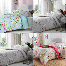 CATHERINE LANSFIELD CANTERBURY FLORAL REVERSIBLE BEDDING SET SINGLE DOUBLE KING