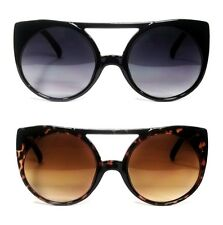 WOMEN FASHION RETRO CAT EYE AVIATOR STYLE SUNNIES FLAT TOP FRAME SUNGLASSES