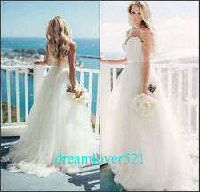 New White/ivory Wedding Dresses Bridal Gown Custom Size 2-4-6-8-10-12-14-16 18+