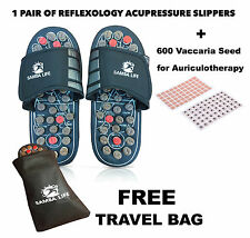 Foot Massager Slipper Reflexology Acupuncture Acupressure + 600 Ear Acupuncture