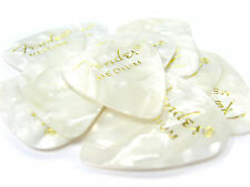12 Fender Celluloid medium guitar picks (abalone/black/blue/red)