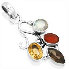 Natural Citrine Gemstone Jewelry 925 Solid Sterling Silver Pendant zb96081