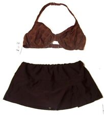Sz XS-XL - NWT Sunsets Chocolate Brown & Club Soda Brown Swimsuit Separates