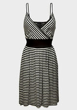 New Ladies C&A Clockhouse Black & White Striped Dress Sizes 8 10 12 14 16
