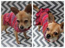 Hand Knit Dog/Puppy Sweater XXS/XS 2.5 - 5 Lbs Chihuahua Yorkie Maltese Teacup