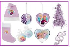 DISNEY FROZEN ANNA ELSA CHRISTMAS TREE BAUBLES DECORATIONS ,SANTA HAT , STOCKING