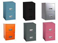 A4 Metal Filing Cabinet 2 Drawer Office Storage Industrial Stationary Lockable