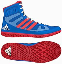 Adidas David Taylor Mat Wizard 3 Red, White & Blue wrestling shoes