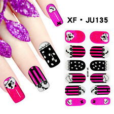 Full Nail Wrap Sticker with Retired Decals DIY Fingernail Art Cute Colorful