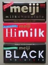 Meiji CHOCOLATE 3 set, Milk, Hi milk, Black,  free shipping from Japan