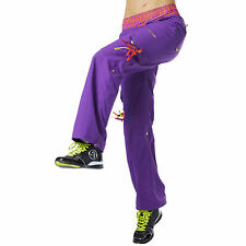 Zumba Dance Fitness Cut Me Loose Cargo Pants in Purple! NWT! SHIPS SUPER FAST!