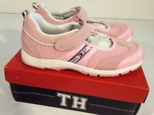 NWB YOUTH GIRL'S TOMMY HILFIGER GIRL MULTIPLE SIZES PINK SUEDE TENNIS SHOES *312